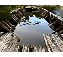 Ruins of a Huon Pine Barge Photographic Print