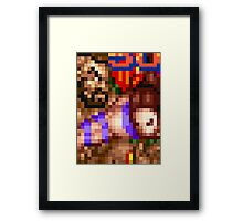Round Two Framed Print