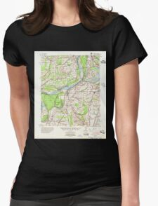USGS TOPO Map Arkansas AR Farrell 260060 1955 62500 Womens Fitted T-Shirt
