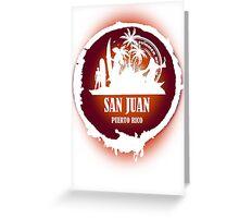 Nice Evening San Juan Greeting Card