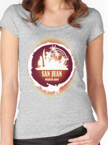 Nice Evening San Juan Women's Fitted Scoop T-Shirt