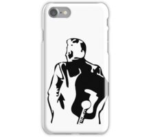 man the legend with guitar silhouette iPhone Case/Skin