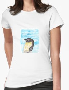 Watercolor Penguin Womens Fitted T-Shirt