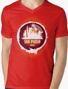 Sao Paulo Romantic Beach Mens V-Neck T-Shirt