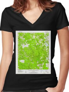 USGS TOPO Map Arkansas AR Collins 260014 1960 62500 Women's Fitted V-Neck T-Shirt