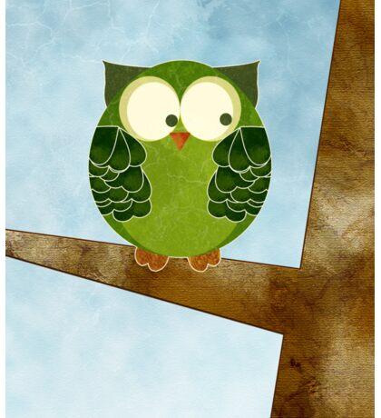 Little Green Owl Sticker