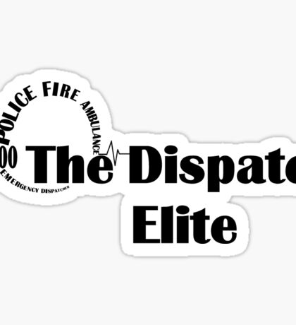 000 Emergency Operator 7 - The Dispatch Elite Black Print Sticker