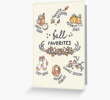 Fall Favorites Greeting Card