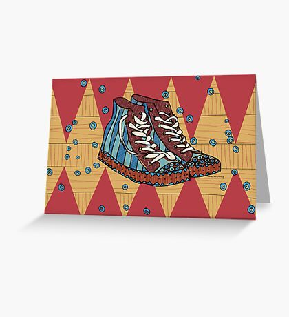Funky shoes Greeting Card