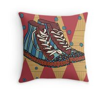 Funky shoes Throw Pillow