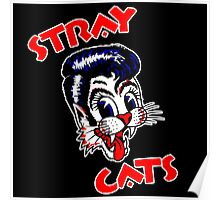 """STRAY CATS """"RED"""" Poster"""