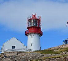 Photographers at Lindesnes Fyr by Arie Koene