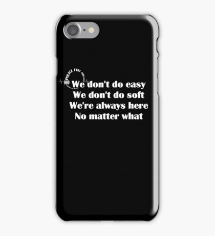 000 Emergency Operator 7 - Dont Do Easy White Print iPhone Case/Skin
