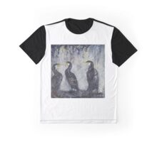 Three's a Crowd, Cormorants Scape Graphic T-Shirt