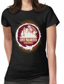 St Maarten Sunset Womens Fitted T-Shirt