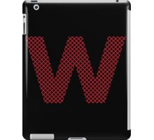 W Red Lines iPad Case/Skin
