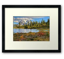 Mt. Shuksan in the Fall (HDR) Framed Print