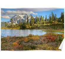 Mt. Shuksan in the Fall (HDR) Poster