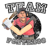 Team Fortress 2 Scout College Sports Design Photographic Print