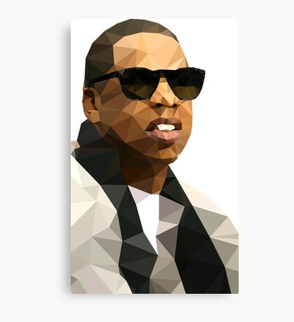 Jay-Z Low Poly Art Canvas Print