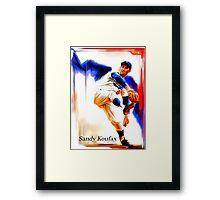 Koufax Framed Print