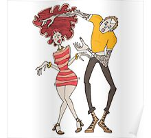 Girl and boy dancing Poster