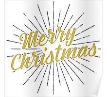 Merry Christmas Typography Concept Poster