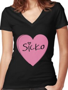 Sicko Women's Fitted V-Neck T-Shirt