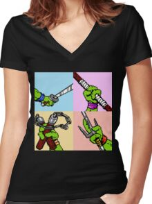 TMNT Women's Fitted V-Neck T-Shirt