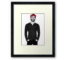 Chris Evans - Flowercrown Framed Print