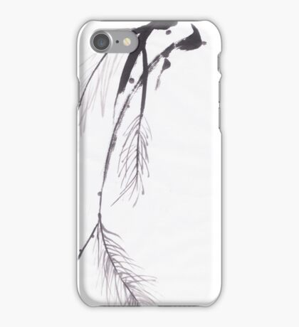Japanese sumi e style original pine design by Henrik Lee iPhone Case/Skin