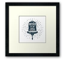 Retro Ship Bell Label Framed Print