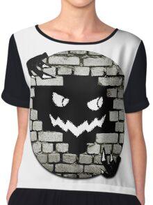 Brick Wall Scary Face Chiffon Top