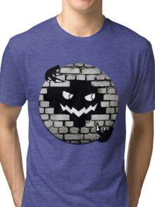 Brick Wall Scary Face Tri-blend T-Shirt