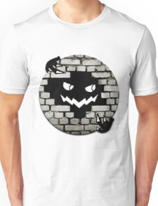 Brick Wall Scary Face Unisex T-Shirt
