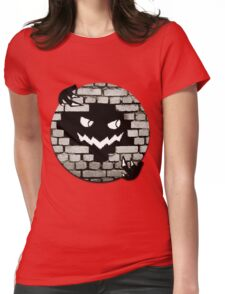 Brick Wall Scary Face Womens Fitted T-Shirt