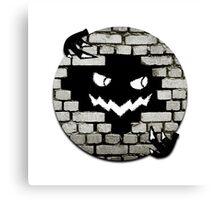 Brick Wall Scary Face Canvas Print