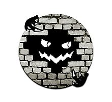 Brick Wall Scary Face Photographic Print