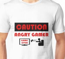 Caution - Angry Gamer Unisex T-Shirt