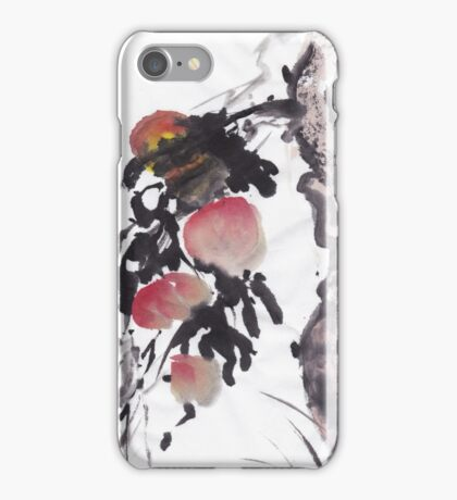 Chinese style peach design iPhone Case/Skin