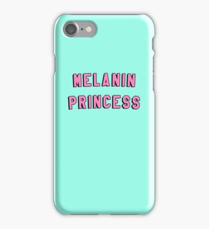 MELANIN PRINCESS | BLACK GIRL MAGIC QUOTE PRINT iPhone Case/Skin