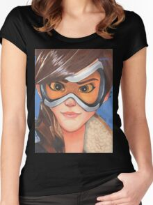 Tracer from Overwatch Women's Fitted Scoop T-Shirt