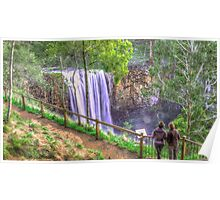 Taking in the Trentham Falls Poster