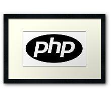 Php logo Framed Print