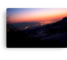 Sunsrise in Remstal VRS2 Canvas Print