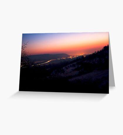 Sunsrise in Remstal VRS2 Greeting Card
