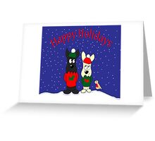 Scottie Dogs 'Happy Holidays' Greeting Card
