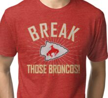 Bronco Breaker faded Tri-blend T-Shirt