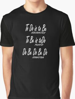 Do be Do be Do, Greek version, MUSIC, Frank Sinatra Lyrics, on BLACK Graphic T-Shirt