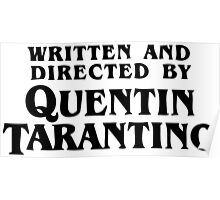 Written and directed by Quentin Tarantino Poster